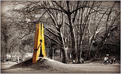 """Skin 2"" 2010, Mehmet Ali Uysal, Parc Hauster, Chaudfontaine, Belgium (claude lina) Tags: art nature belgium belgique arbres parc oeuvre wallonie pincelinge chaudfontaine skin2 provincedelige mehmetaliuysal parchauster"