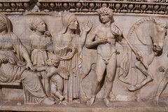 Phaedra and Hippolytus sarcophagus (1) (Nick in exsilio) Tags: turkey istanbul sarcophagus classical mythology phaedra theseus hippolytus