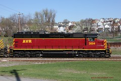 AVR 3004, Everson, PA. 3-27-2012 (jackdk) Tags: railroad train railway locomotive avr roster swp sd45 emd southwestpennsylvania everson sd403 alleghenyvalleyrailroad emdsd45 locomotiveroster sd403r eversonpa