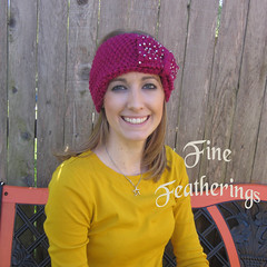 Pink knit headband (finefeatherings) Tags: turban earwarmers winterheadband