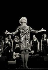 IMG_0982 (bobobahmat) Tags: portrait people bw music woman white black girl choir concert dress scene lviv ukraine singer microphone performer ukrainian bnw mukha