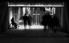 Nordstan movement (Olderhvit) Tags: street longexposure urban blackandwhite nordstan underpass photography gothenburg goteborg img2336 långexponering framingthestreet olderhvit