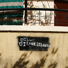 I Love Lebanon (simply innocuous) Tags: morning lebanon wall writing grafitti shadows heart beirut hamra falsestart paean ilovelebanon