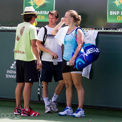 Sveta talks to Roig on her way out