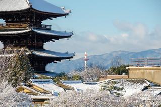 八坂の塔と京都タワー / Yasaka Tower & Kyoto Tower