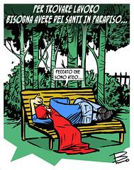 superdisoccupato (ilsuperdisoccupato) Tags: italia fumetti bruno satira socialismo larepubblica crisi disoccupazione precariato superdisoccupato