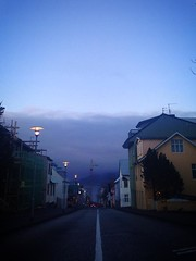 (jane.clendining) Tags: ocean street city sea sky panorama sun house mountain art home church girl rain weather fog clouds graffiti coast iceland europe european skies ship reykjavik blond voyager scandinavia vikings viking eriksson leif cloudporn scandinavian skyporn iclandic
