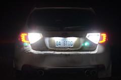 light white car led subaru wrx sti 2009