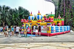 Bouncing Castle (chooyutshing) Tags: singapore bouncingcastle marinabay baysouth gardensbythebay supertreegrove giantinflatableplayground