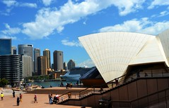 Sydney Harbour (Clare-White) Tags: summer sky people skyline clouds stairs buildings nikon sydney australia operahouse