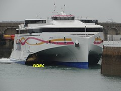 Late! (Coco of Jersey) Tags: lines st ferry boat marine ship jersey portsmouth condor ci weymouth freight guernsey channel poole roro malo austal incat