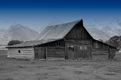 T.A. Moulton Barn - Mormon Row (AZSunsets) Tags: barn weathered wyoming grandtetons mormonrow barnboard jmsphotography