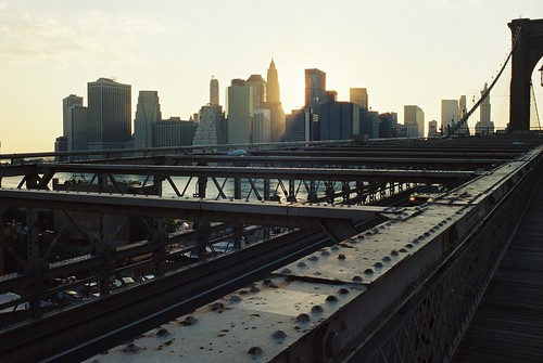 Sunset - Brooklyn Bridge NYC