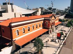 South Brisbane Railway Station (stephenk1977) Tags: red brick heritage station train south bank rail railway australia brisbane qld queensland register qr c7 preset vsco iphone6