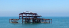 Rust in Peace (SteveJM2009) Tags: uk morning sea sky misty seaside brighton westsussex decay may structure westpier wreck remains seamist stevemaskell 2016
