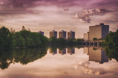 Now the Futures So Bright and I Owe it All to You (flashfix) Tags: morning bridge pink trees ontario canada nature clouds sunrise buildings reflections landscape three still nikon cityscape circles ottawa grain tranquil vanier mothernature offices pinks purples 2016 rideauriver needtocleanmylens d7000 55mm300mm 2016inphotos may262016