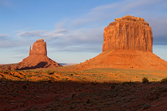 The Right Mitten and Butte (jpmckenna - Denali Bound) Tags: arizona landscape sandstone desert roadtrip highdesert monumentvalley navajotribalpark getoutside amazinglocation