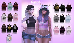Foxes - Festival @ C88 (Dani @ Birdy/Foxes/Alchemy) Tags: summer fashion festival tank top sl event secondlife foxes tassle c88 collabor88
