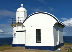 Tacking Point Lighthouse (dw01010101) Tags: blue lighthouse white design architect portmacquarie tackingpoint jamesbarnet