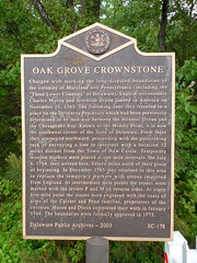 Oak Grove Crownstone Historic Marker (jimmywayne) Tags: stone border historic line marker delaware stateline oakgrove reliance masondixon sussexcounty crownstone