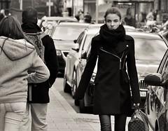 Cold view (heiko.moser) Tags: street city portrait people bw woman streetart blancoynegro canon person mono blackwhite eyes women leute noiretblanc candid strasse natur young teens streetportrait nb menschen teen sw monochrom publicity schwarzweiss nero youngwoman personen streetfoto einfarbig schwarzweis eyecatch streetfotografie heikomoser