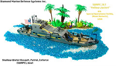 Shallow Water Assault Patrol Enforce (SWAPE)  267 (JBIronWorks) Tags: water usmc boat lego military awesome jungle naval usnavy usn moc patrolboat usmarinecrops