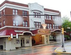 Palace Theater, Greensburg Pennsylvania, 5-2016 (polepenhollow) Tags: rain marquee theater pennsylvania movietheater