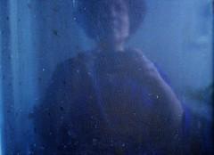 Goodbye Brazil (*F~) Tags: door blue brazil reflection brasil mirror purple belohorizonte goodbye monologue selportait