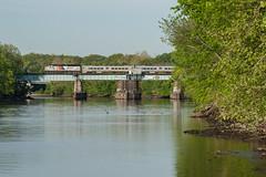 Commuters on the River (sullivan1985) Tags: county new railroad train river main nj line transit jersey drawbridge passenger bergen lyndhurst westbound passaic njt emd electromotive gp40ph2b njtr