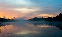 GA-Sunrise-3 (Scottmidb) Tags: morning trees lake reflection nature beautiful fog sunrise nikon greatadventure d3 prospertownlake