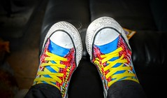 Converse are a girls best friend (Gemma_Peile) Tags: fashion fun happy dc shoes comic style dirty converse worn superhero casual relaxed comfy