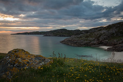 Tranquil Evening at Achmelvich (charliegbson) Tags: scotland assynt sutherland tranquil peaceful sunset light turquoise sea sand achmelvich