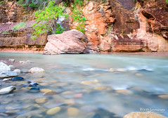Zion and the Virgin River (bryanfisherphoto) Tags: park sun clouds river rocks view cliffs virgin national zion zionnp canyons