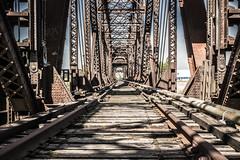 rr abandoned 03 (kmac1960) Tags: railroad bridge blue sky abandoned rust iron steel tracks