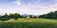 An Open Field (Tom Mrazek) Tags: park city trees summer sky panorama green nature field clouds forest landscape cityscape angle hill wide sunny slovenia ljubljana