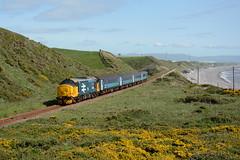 37402 Nethertown 23/05/2016 (Brad Joyce 37) Tags: blue green sunshine clear coastal drs class37 largelogo cumbriancoast 37402 nethertown