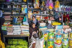 multi grocery stores (sydeen) Tags: people food woman color wet shopping asian asia raw market sale label muslim traditional culture lifestyle stall utility fresh business rack malaysia customer packet local bazaar grocery sell trade multi kota malay khadijah siti kelantan bharu