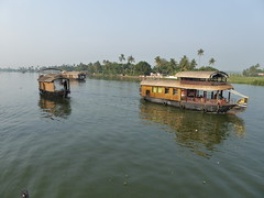 Houseboats in Kumarakom (Aidan McRae Thomson) Tags: india boat houseboat kerala kumarakom