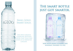 Igloo Water Ad (Chaz Walker) Tags: cold ice water bottledwater waterbottle adcampaign coloursensitive