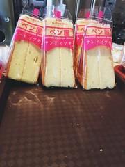 Chinese sponge cakes. (KarinaKabam) Tags: nyc pink newyork cake dessert chinatown bakery vanilla treat spongecake chinesecake