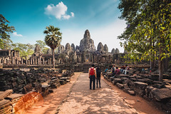 Bayon Temple Amazing Panoramic (F.J.C.R.) Tags: light sunset sky sun forest canon landscape temple ancient cambodia angle wide sigma jungle angkor picturesque templo bayon uwa camboya jungla jemer