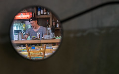 Caf (Georgie Pauwels) Tags: street public caf bar mirror candid sunday streetphotography