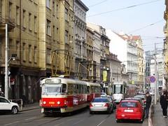 Tramvajov doprava v Praze (bernarou) Tags: public europe republic czech prague transport central tram praga v repblica checa republika czechia doprava tramways praze esk tramvajov