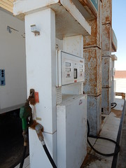 Rusted Gas Station (Waynuma) Tags: landscapes nikon decay gasstation morroco rusted maroc coolpix westernsahara saharaoccidental nikoncoolpixs9900 s9900 elguerguarat