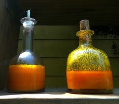 Carrot oil (The Big Jiggety) Tags: orange carrot oil bouteille cruet huilier