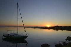 Pos sur l'tang (Michel Seguret Thanks all for 8.400 000 views) Tags: sunset sun france sol water soleil agua nikon eau wasser coucher pro sole bateau acqua sonne voilier d800 etang herault thau balaruc michelseguret