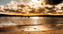 Reflective moment (oxfordwight) Tags: sunset sea sun boats sand harbour yachts shimmer iow bembridge sescape