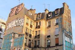 Boulevard de la Chapelle - Paris (France) (Meteorry) Tags: street paris france art wall corner graffiti march europe ledefrance demolition rue mur idf artderue 2015 horf meteorry boulevarddelachapelle ruephilippedegirard cliot