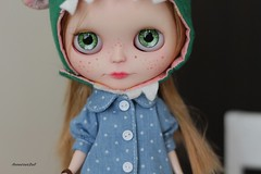 Denim jacket for Blythe- available in my shop on etsy