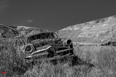 Forgotten Transportation (Neil Young Photography (nyphotos.ca)) Tags: auto old canada cars photography nikon automobile neglected young automotive drumheller forgotten alberta rusted weathered badlands fotoman nyphotos d700 taylorsiding neilyoungneil